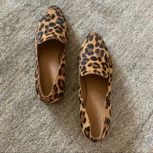 Madewell Frances Loafer in Leopard Calf Hair